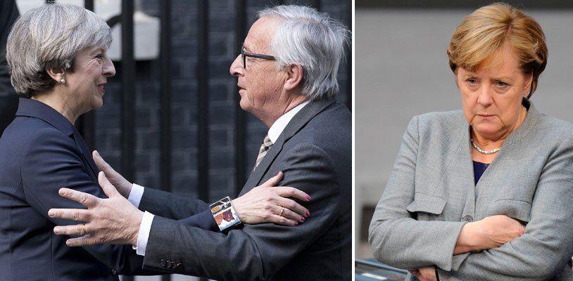 Brexit: Angela Merkel reagiert wütend auf Abendessen zwischen Juncker und May