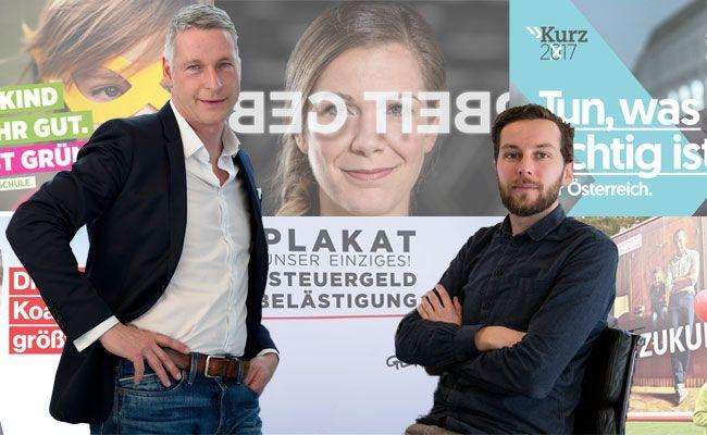 Von Kurz bis Pilz: So bewertet Studio Spitzar die Wahlplakate